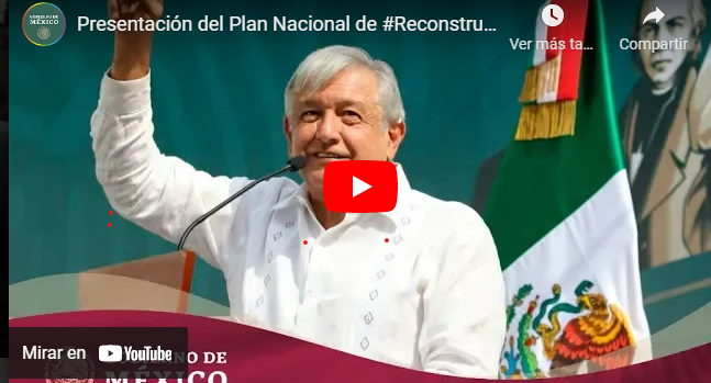 Presentación del Programa Nacional de #ReconstrucciónMX