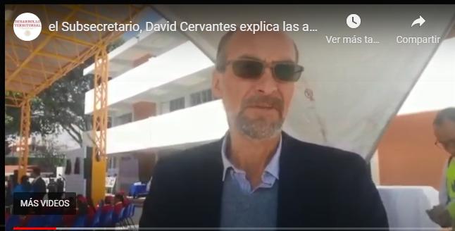El Subsecretario, David Cervantes explica las acciones de la #ReconstrucciónMX
