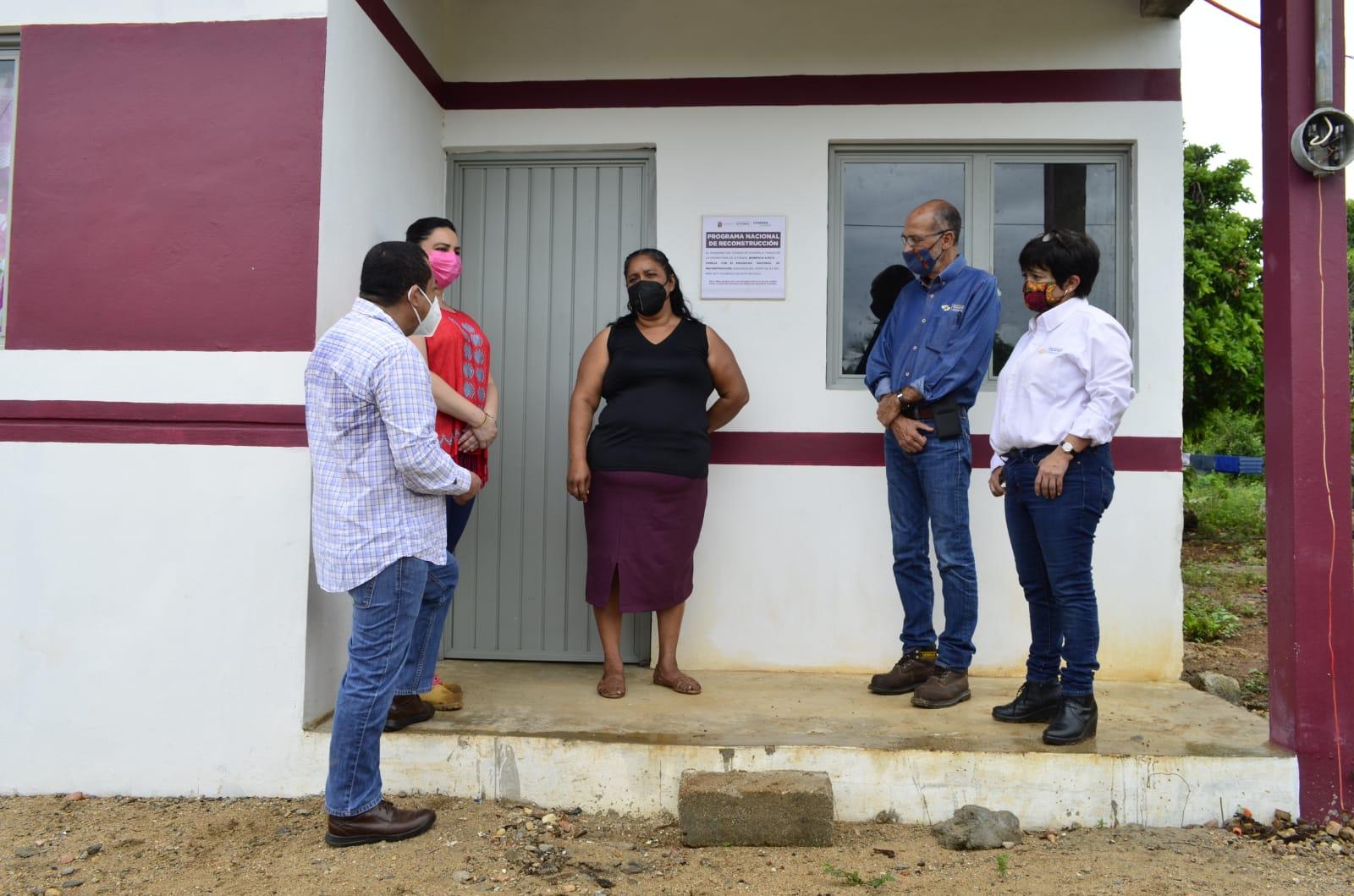 Sedatu entrega 135 viviendas reconstruidas en Chiapas